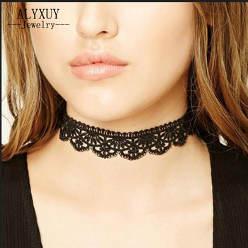 Fashion jewelry lace fabric tattoo necklace gift for women girl N1957