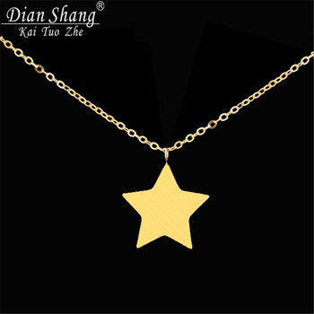 10pcs Friends Gift Stainless Steel Collier Femme Vintage Jewelry Celebrity Inspired Tiny Star Necklace N009S